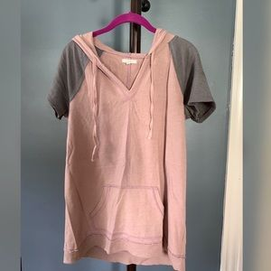 Hooded Short Sleeve Top